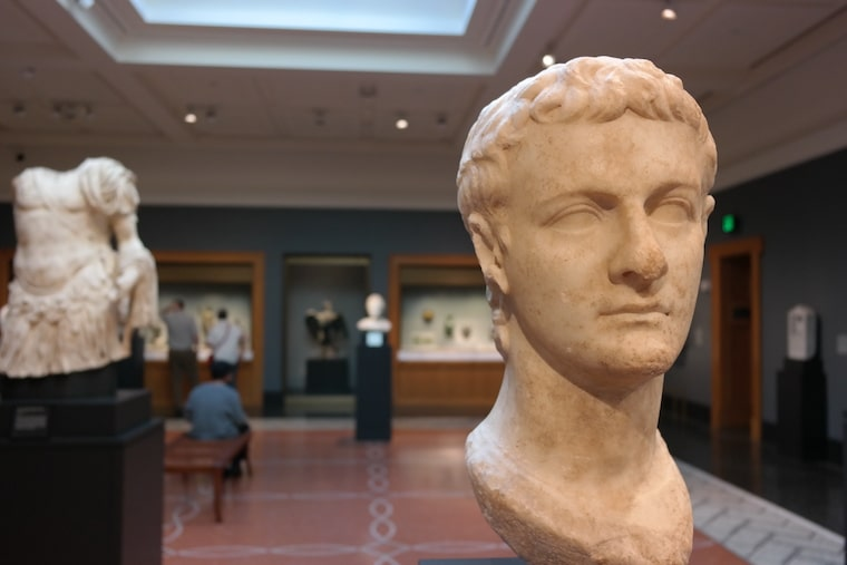 One of the galleries at the Getty Villa