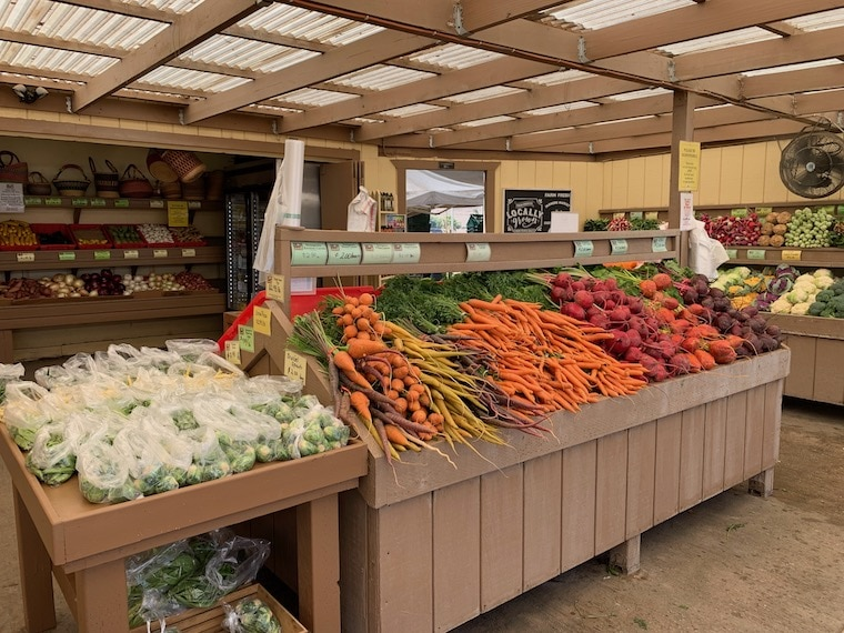 vegetables at The Produce Stand at Underwood Family Farms