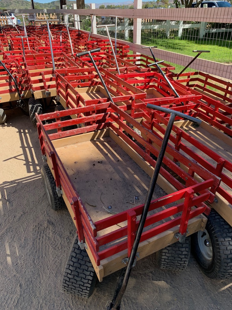 Wagons you can borrow while you're at Underwood Family Farms