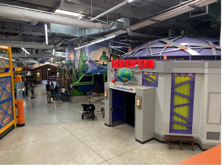 Some of the exhibits at Discovery Cube Los Angeles