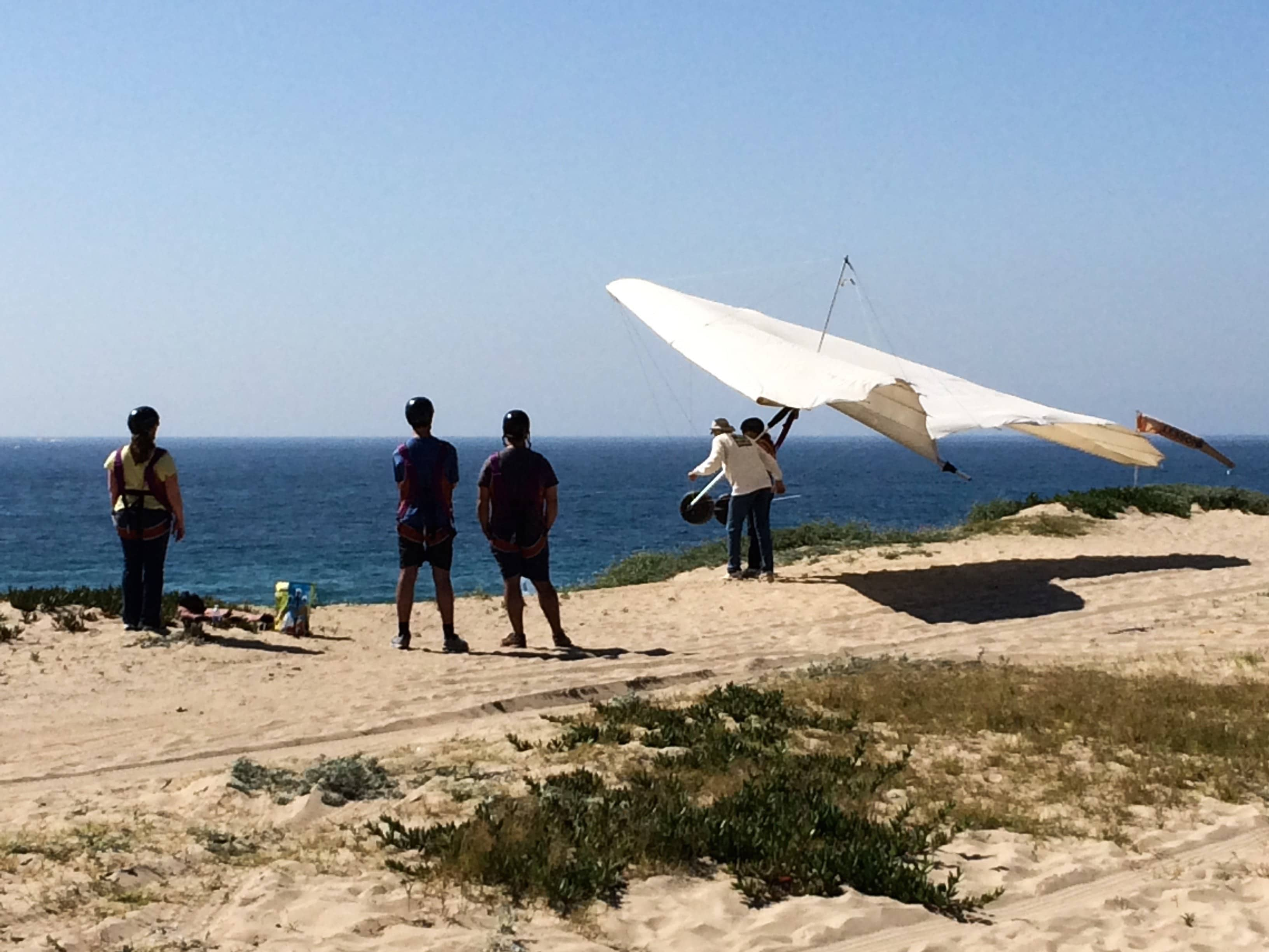 hang gliding lessons at Dockweiler Beach