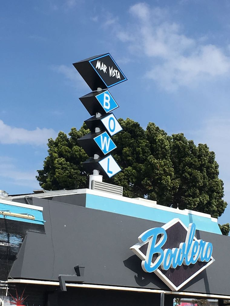 Bowlero Mar Vista sign