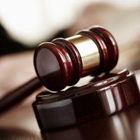 judge's gavel in court