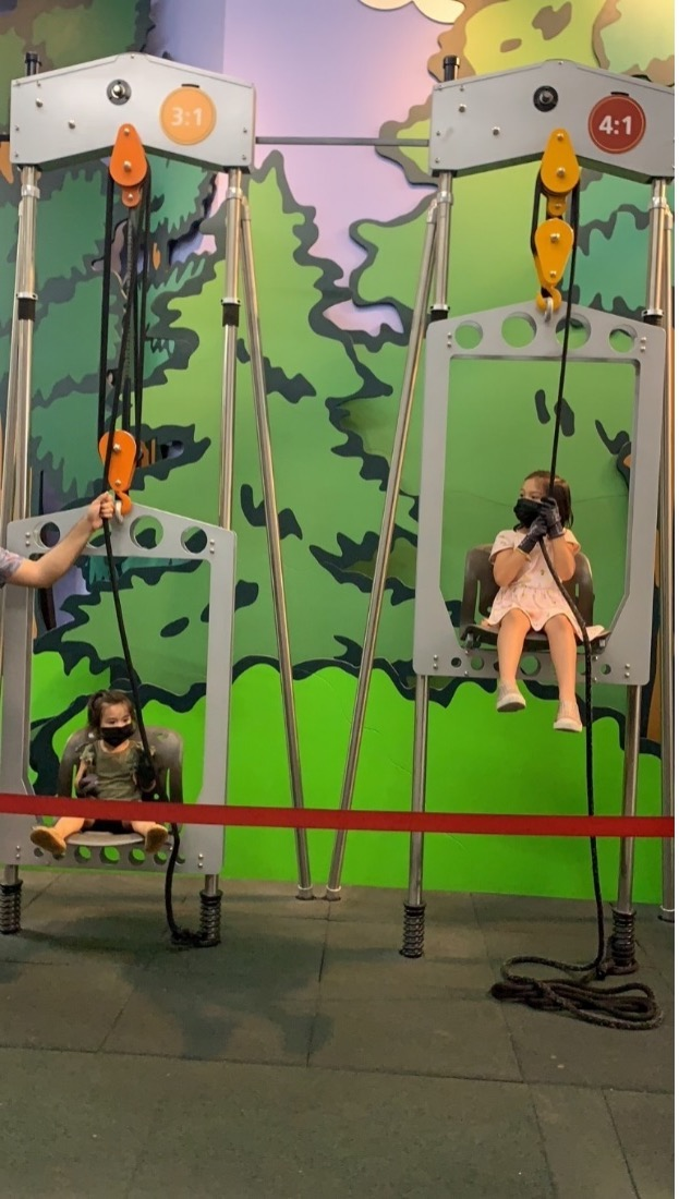 pulleys and levers at Discovery Cube Los Angeles