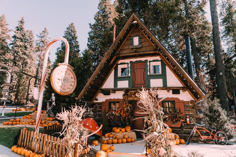 pumpkin in the pines at Skypark Santas village in Big Bear Lake